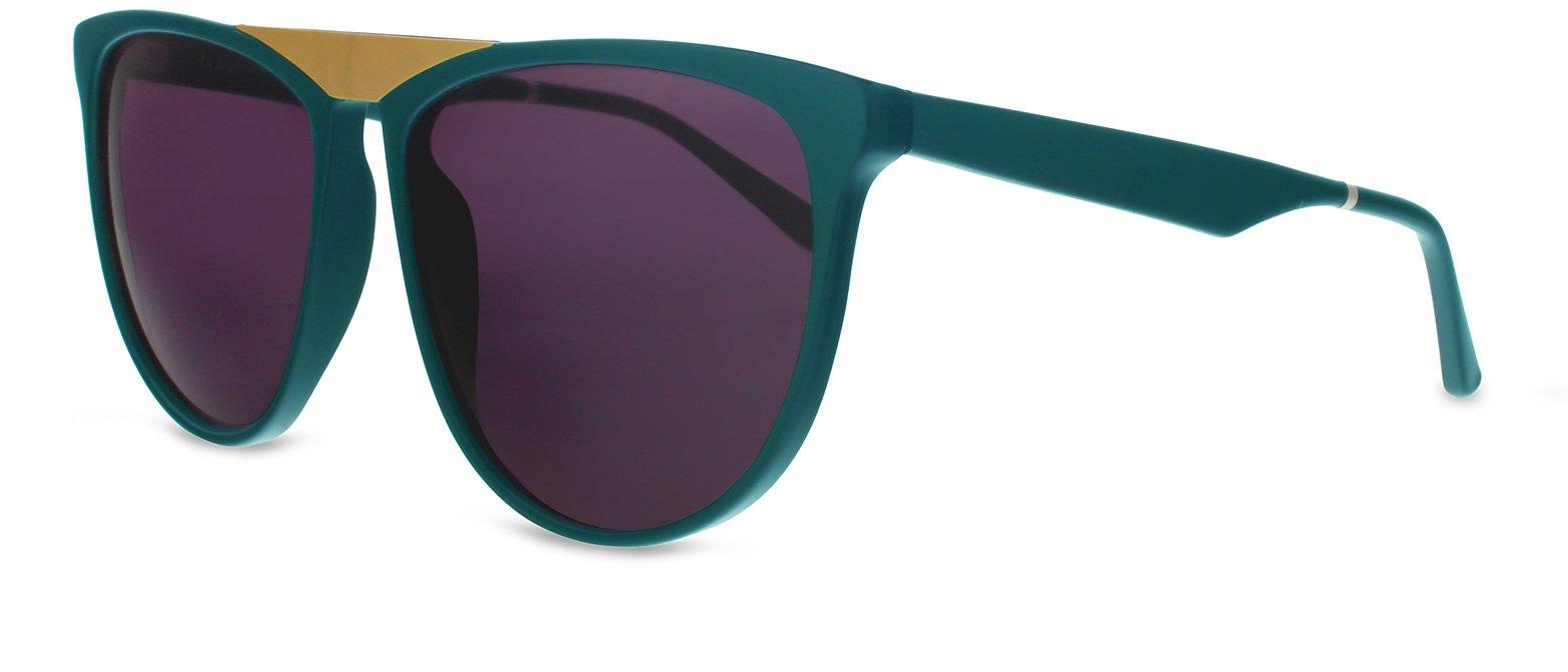 Smoke X Mirrors La Bambola Unisex Sunglasses SM121 Based in New York City, Handmade in France (Green - Matte Gold, Grey)