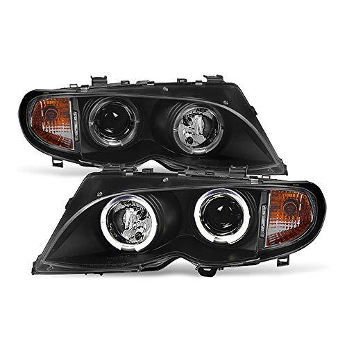 Bmw 2005 Models - ACANII - For [Halogen Model] 2002-2005 BMW E46 Sedan 3-Series LED Halo Black Projector Headlights Headlamps Assembly