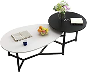 Coffee Tables WFF Triangle Metal, Nested Table with Metal Feet, for Living Room Office