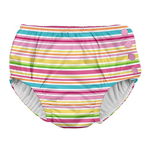 i play. Baby Girls Snap Reusable Absorbent Swimsuit Diaper,