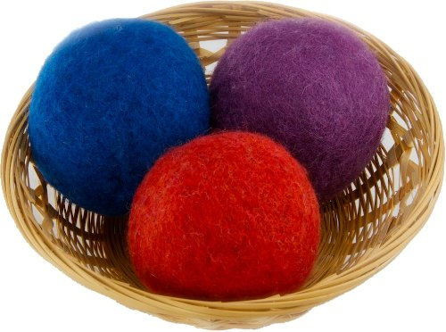 EveryDay Willow Organic Wool Dryer Ball Gift, Set of 3, Colors May Vary Assorted3 3Y-I36A-8ZRS