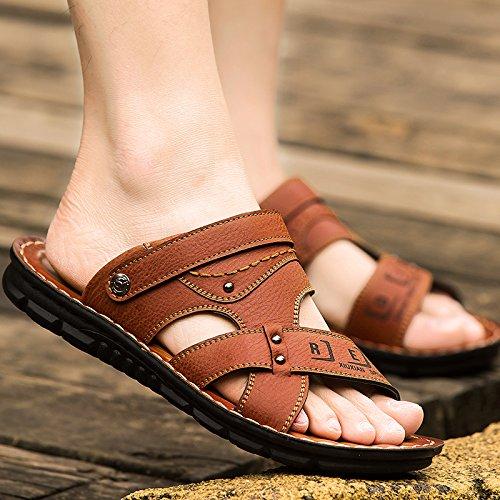 Xing Lin Sandalias De Verano Sandalias De Playa Marea Del Hombre Zapatos Para Hombres Verano Zapatillas Sandalias Hombre De Nueva Tendencia Sandalias De Hombres Transpirable Zapatos De Hombre brown