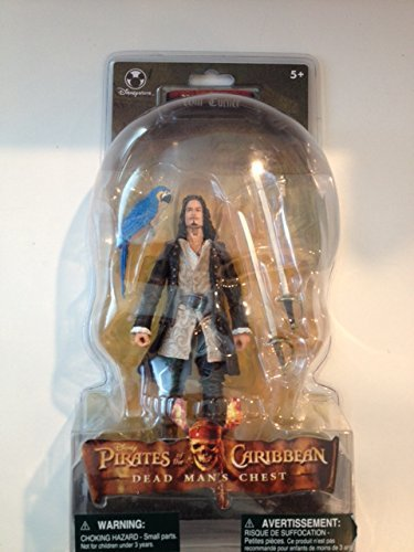 Will Turner Pirates Of The Caribbean - Will Turner Figure with Parrot and Duel Swords - Pirates of the Caribbean Dead Man's Chest (Canadian Import)