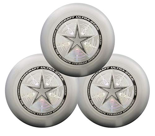 Discraft 175g Ultimate Disc Bundle (3 Discs) (Silver, Silver & Silver) by Discraft (Image #1)