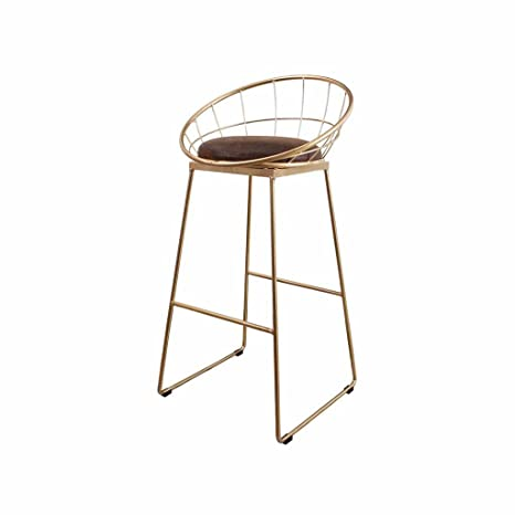 Amazon.com: XNLIFE Simple Metal Bar Stool, Dining Chair ...