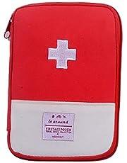NiceButy (Rojo Productos para el hogar Bolsa de Viaje médica Bolsa de Almacenamiento de Drogas vacío Mini Bolso de Emergencia portátil país o Acampar
