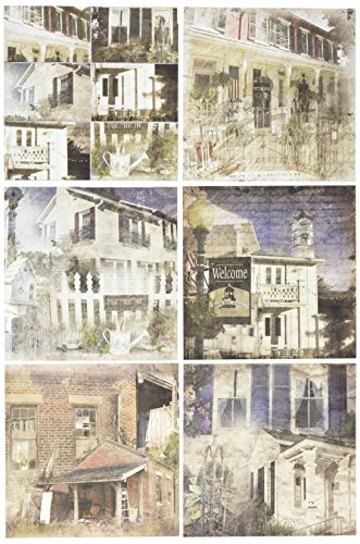 "Ken Oliver Double-Sided Paper Pad 6""X6"" 24/Pkg-Hometown Cottage, 6 Designs/4 Each, 6"" x 6"""