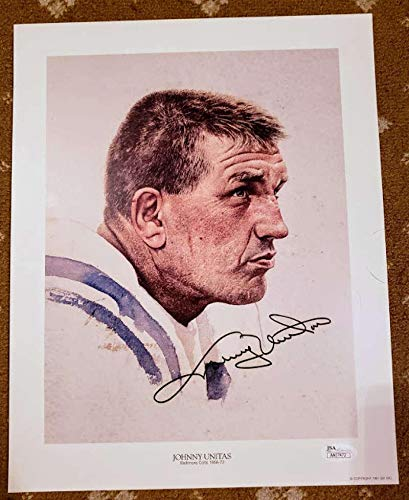 54b9ca00185 JOHNNY UNITAS Coa Autograph 13x10 Litho Photo Hand Signed Authentic - JSA  Certified - Autographed NFL