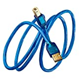 Kimber Kable B Bus Ag USB Cable with Pure Silver Signal Conductors Type A to Type B (2.0 Meter)