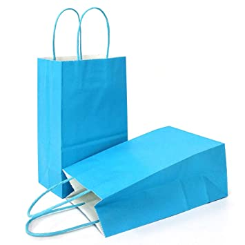 Amazon.com: AZOWA Bolsas de regalo, bolsas de papel kraft ...