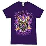 Insane Clown Posse Mighty Death Joker Adult Purple T-shirt (Large)