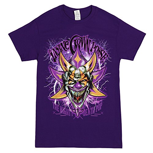 Insane Clown Posse Mighty Death Joker Adult Purple T-shirt (Large) by FEA