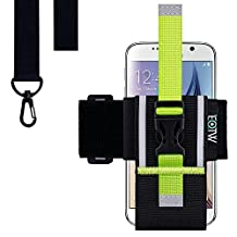 Running Exercise Armband, EOTW Universal Running Armband Smartphone Sports Armband with Lanyard for Samsung Galaxy S6, S5, S4, S3, NOTE 2/3/4, iPhone 6 / 6S plus, HTC One,One Plus (3.5~5.1 inches)
