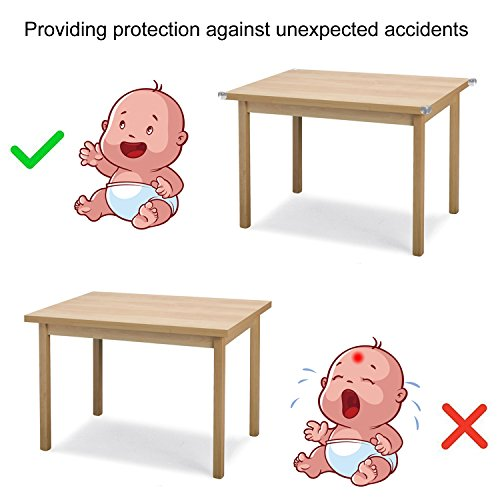 9f29ce5cb2719 Amazon.com   HOOMIL Baby Proofing Corner Guards Clear Corner Protectors  Furniture Safety Bumpers (16 Pack)   Baby