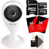 Vivitar VIV-IPC-112N IP CAM. 1.3MP W/110 Angle Night Vision + 40GB MicroSD Memory Card + 100 Lens Tissue + 3pc Cleaning Kit