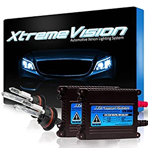 XtremeVision 35W HID Xenon Conversion Kit with Premium Slim Ballast - 9007 8000K - Medium Blue - 2 Year Warranty
