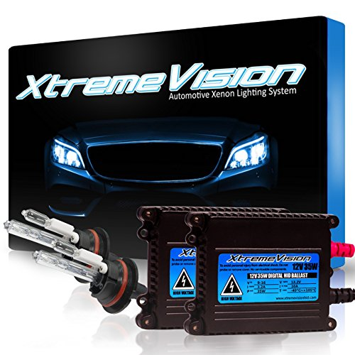 XtremeVision 35W HID Xenon Conversion Kit with Premium Slim Ballast - 9007 6000K - Light Blue - 2 Year Warranty