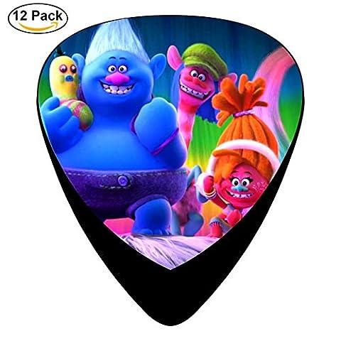Trolls Guitar Picks Celluloid Medium 12 Pack Complete Cool Custom Assorted (Raiders Guitar Picks)