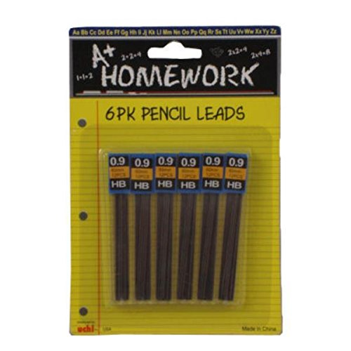 Mechanical Pencil Lead Refills .9HB 6PK Case Pack 48