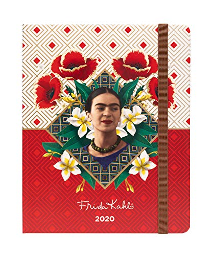 Frida Kahlo Weekly Planner, Yearly Planner and Daily Planner, 17-Month Form Aug-19 to Dec-20