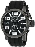 Haurex Italy Men's 6N506UWN TURBINA II Analog Display Quartz Black Watch