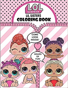 Little Sister Lol Lol Dolls Coloring Pages Lil Sisters Doll