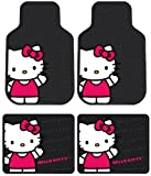 Plasticolor Hello Kitty Sanrio Waving Front & Rear Car Truck SUV Seat Rubber Floor Mats