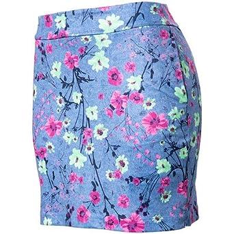 Greg Norman - Falda de Punto para Mujer, diseño Floral: Amazon.es ...
