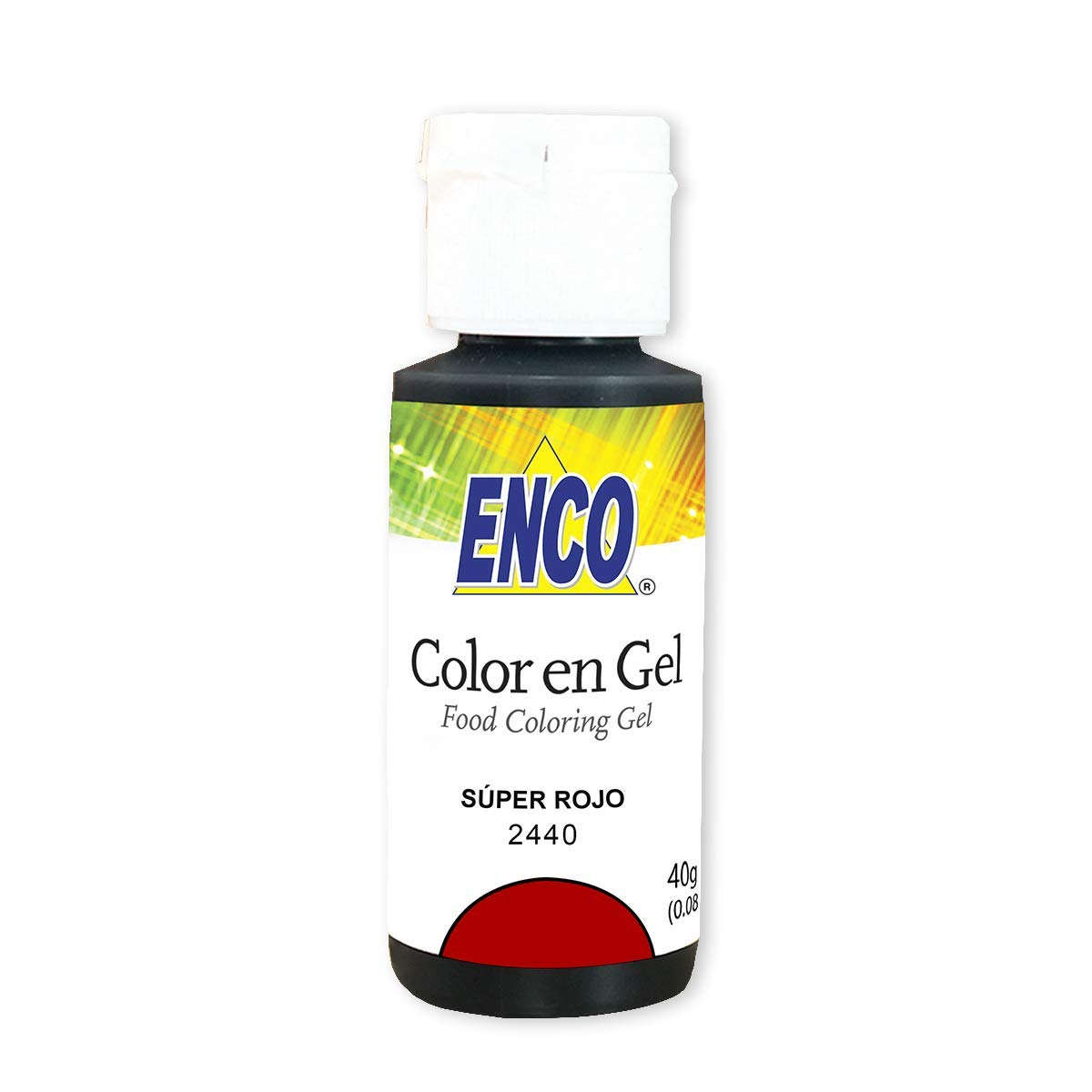 ENCO GEL FOOD COLOR 1.41 OZ (SUPER RED)
