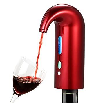 BAIVIN Decantador electrónico Vino rápido oxigenado Vertidor eléctrico Dispensador de Vino Rojo Vino Accesorios Regalo, Red: Amazon.es: Deportes y aire ...
