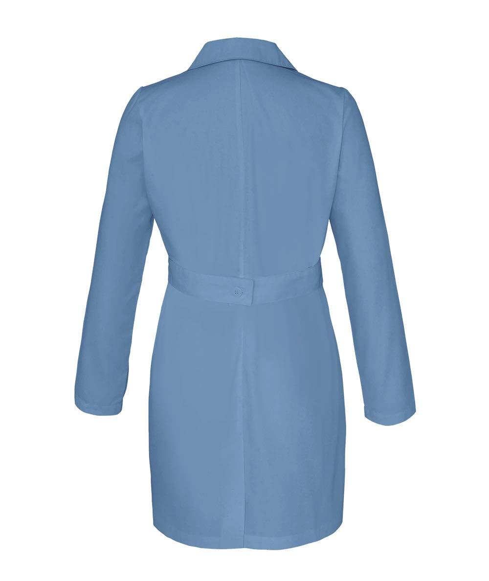 Panda Uniform Custom Women 34 Inch Medical Consultation Lab Coat-Ceil Blue-M by Panda Uniform (Image #3)