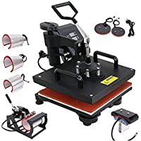 PanelTech Heat Transfer Machine 12x15 inches Swing-Away Digital 8 in 1 Heat Press Machine for T-Shirts Sublimation Hot…