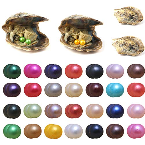 - Akoya Pearls Oyster, 10PCS Twin Pearls Saltwater with Round Pearl Inside Random Color (6.5-7.5mm)
