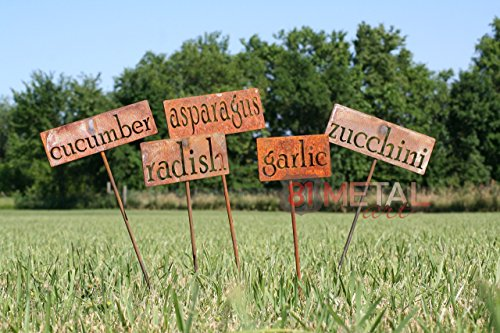 Classic Metal Garden Markers -- set of 3, 5, 10, 15, 20, 30 or 50