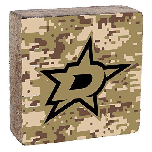 (NHL Dallas Stars, Camo Background, Team Logo Block,  6