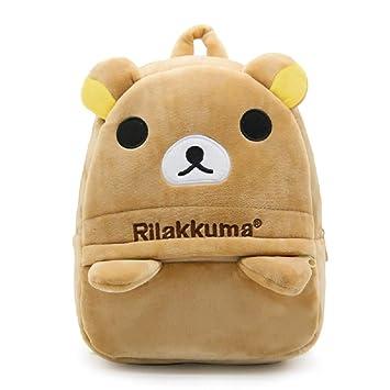 ccd3af244043 JCBD Kids Backpacks Cute Plush Little Girls Boys Cartoon Animal Backpacks  school backpacks (Rilakkuma)