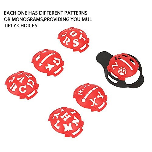 Echeer Golf Ball Marker, Golf Ball Line Makers Golf Ball Line Drawing Marking Alignment Putting Tool, Template Drawing Mark Alignment Putting Tool for Golfer Training Accessories (Pack of 7) by Echeer (Image #1)