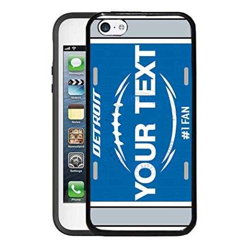 BRGiftShop Customize Your Own Football Team Detroit Rubber Phone Case for Apple iPod Touch 5th & 6th Generation (Case Ipod Detroit Lions 5)