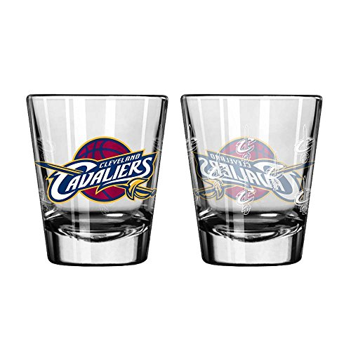 Cleveland Cavaliers Shot Glass - 2 Pack Satin - Websites Glasses Good