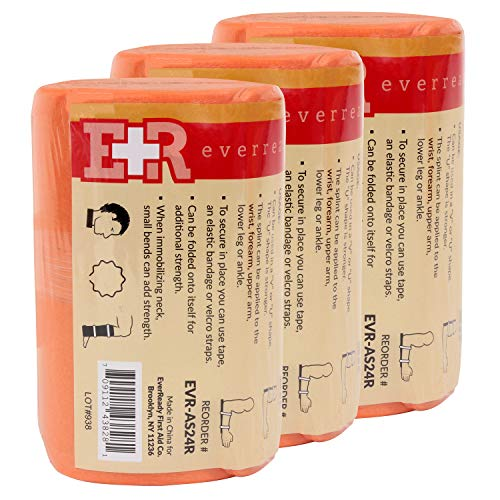 Ever Ready First Aid Universal Aluminum Splint, 24 Inch Rolled - 3 - Splint Soft