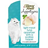 Purina Fancy Feast Appetizers Light Meat Tuna With A Scallop Topper Adult Wet Cat Food Complement – (10) 1.1 Oz. Trays For Sale
