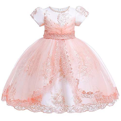 (12Yrs Baby Big Bow Tutu Princess Dress for Girl Elegant Flower Birthday Party Girl Dress Baby Girl's Christmas,Pink,8)