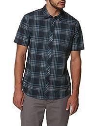Men's Standard Fit Plaid Short Sleeve Stretch Woven