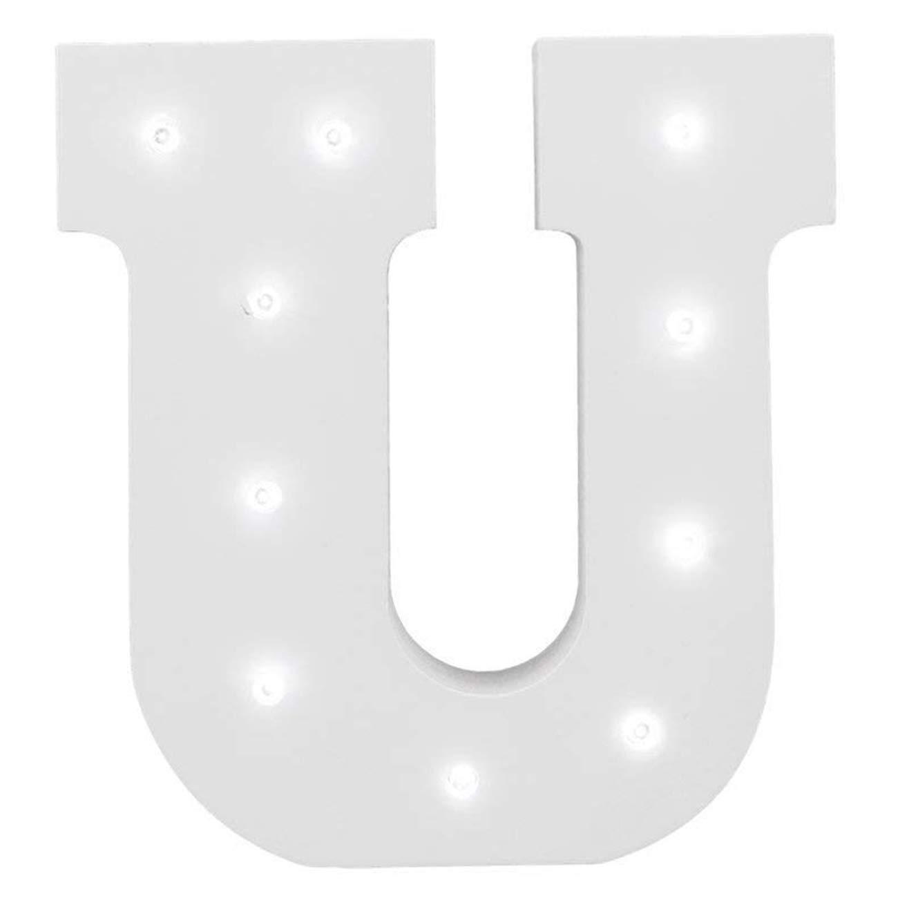 K wei/ß Dekorative leuchtende Buchstaben,KINGCOO Lampe batteriebetrieben h/ölzerne Alphabet uchstaben Zeichen Lichter,Party Hochzeit Dekorationen,Dein Name in Lichter