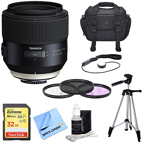 - Tamron SP 85mm f1.8 Di VC USD Lens f/Nikon Full-Frame DSLR Cameras Includes Bonus UV Filter kit and More