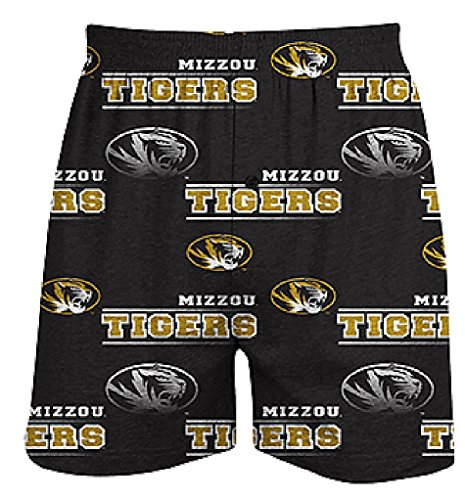 Missouri Tigers Mens Black Oversized Fusion Boxer Shorts by Concepts Sports (M=33-34)