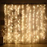 Bowake Clearance!Window Curtain String Light for Wedding Party Home Garden Bedroom Outdoor Indoor Wall Decorations (Yellow)