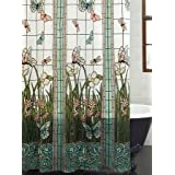 Mainstays Stained Glass Meadow PEVA Shower Curtain by Mainstays