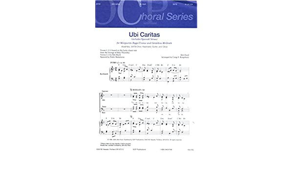 Amazon Ubi Caritas Assembly Satb Choir Keyboard Guitar And