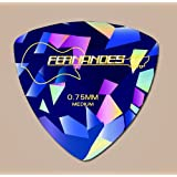 FERNANDES[フェルナンデス] 三角ピック DIAMOND&PEARL P-100 ピンク・ブルー・グリーン 0.75mm (ブルー)